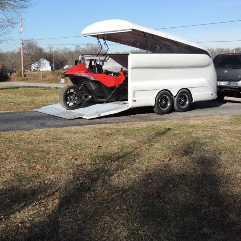 Prototype test trailer for a slingshot